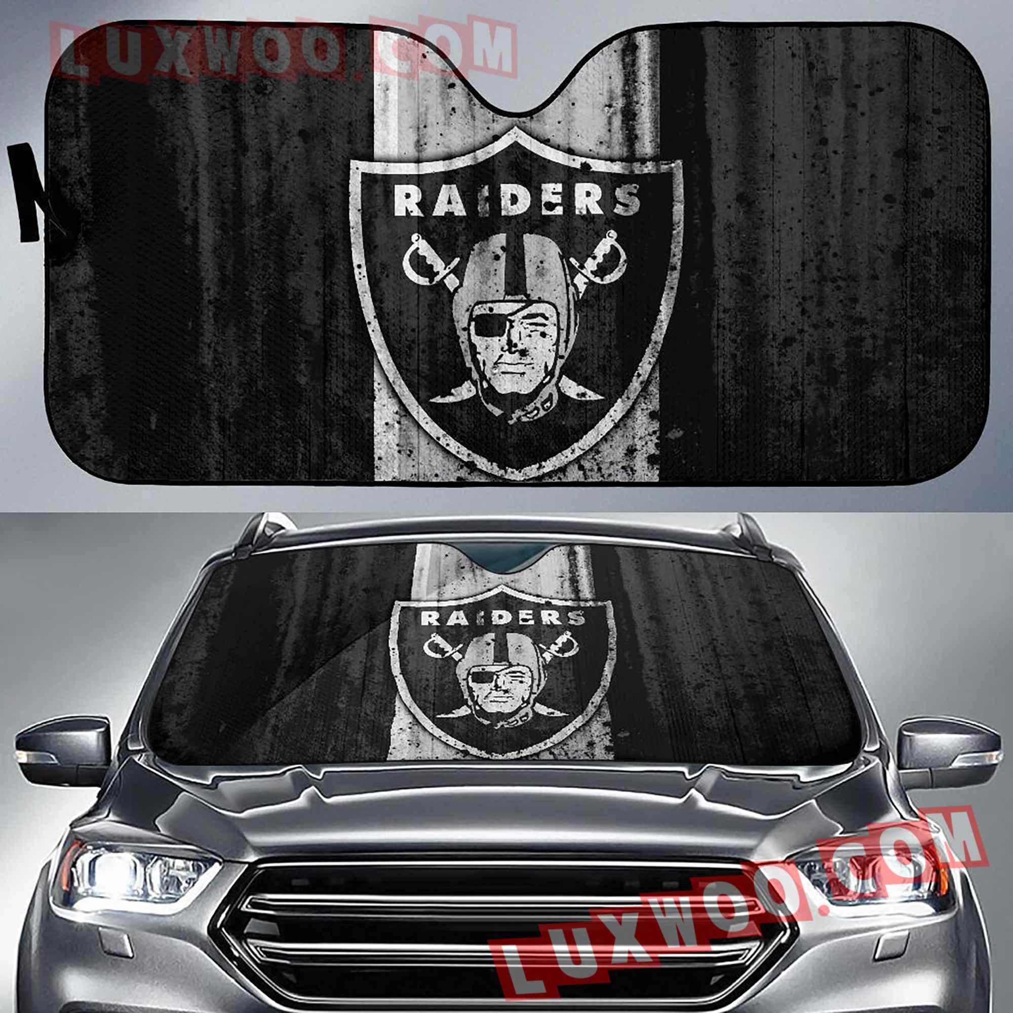 Oakland Raiders Nfl 3d Auto Sun Shades V3