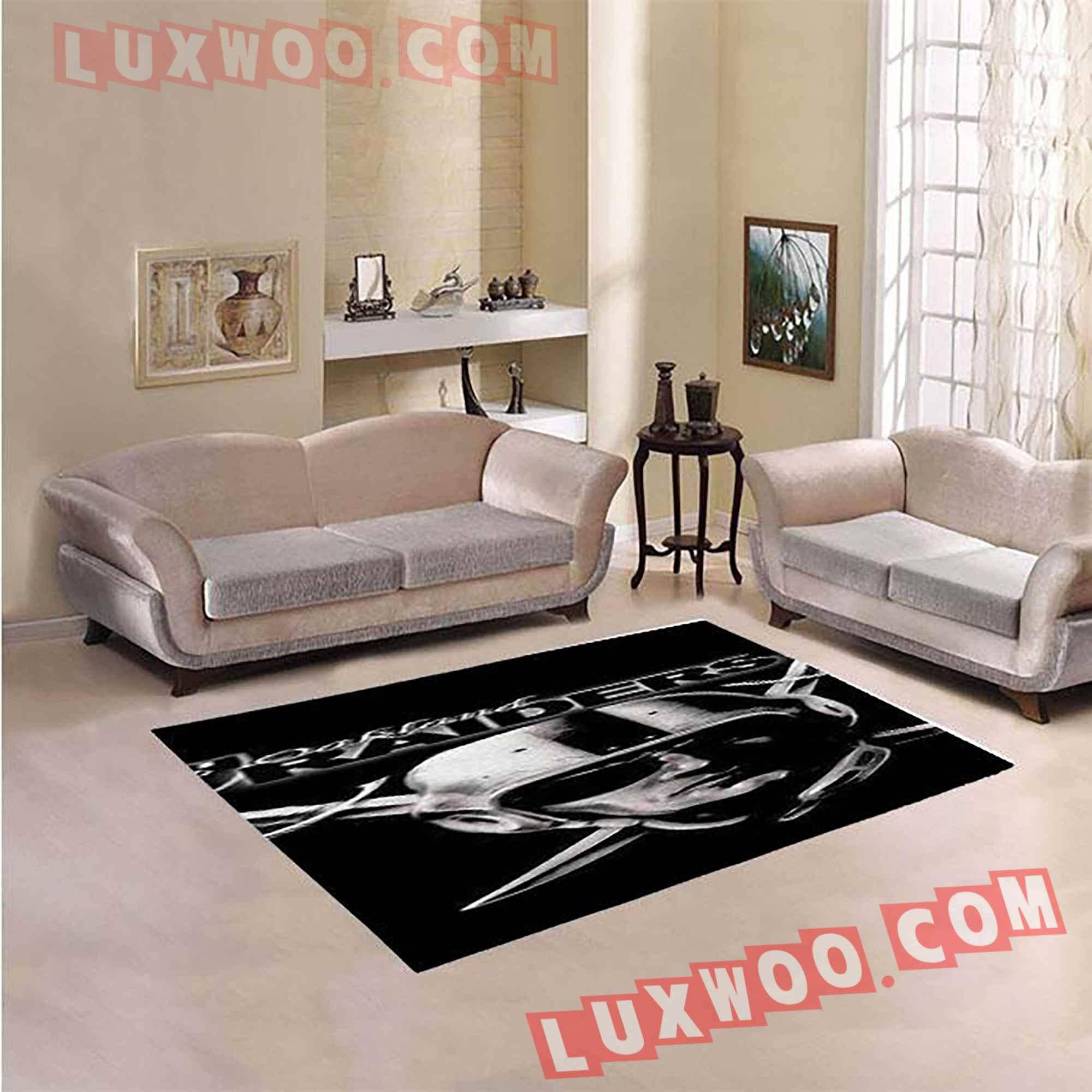Oakland Raiders Nfl 3d Living Room Rugs V5