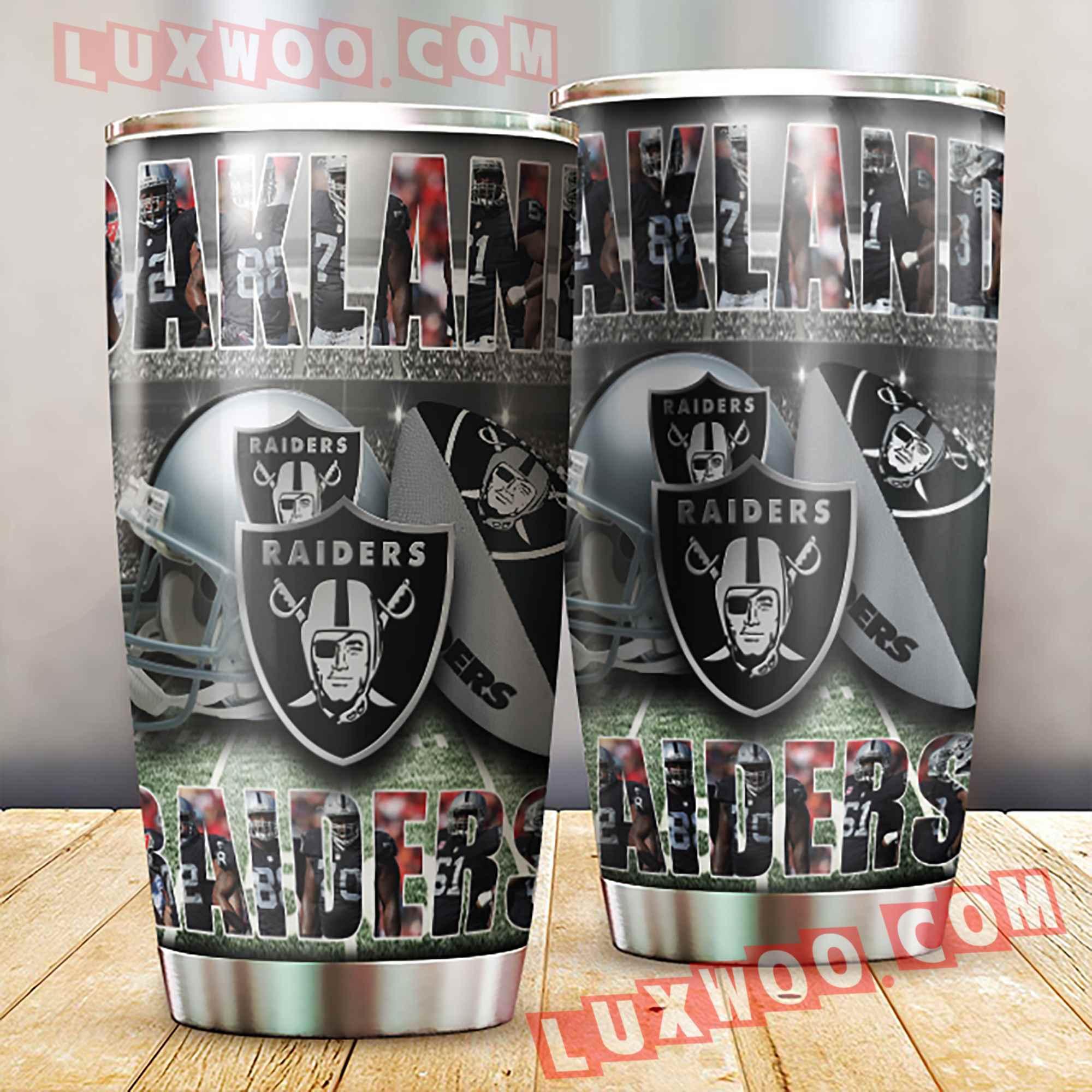 Oakland Raiders Nfl 3d Tumbler V1