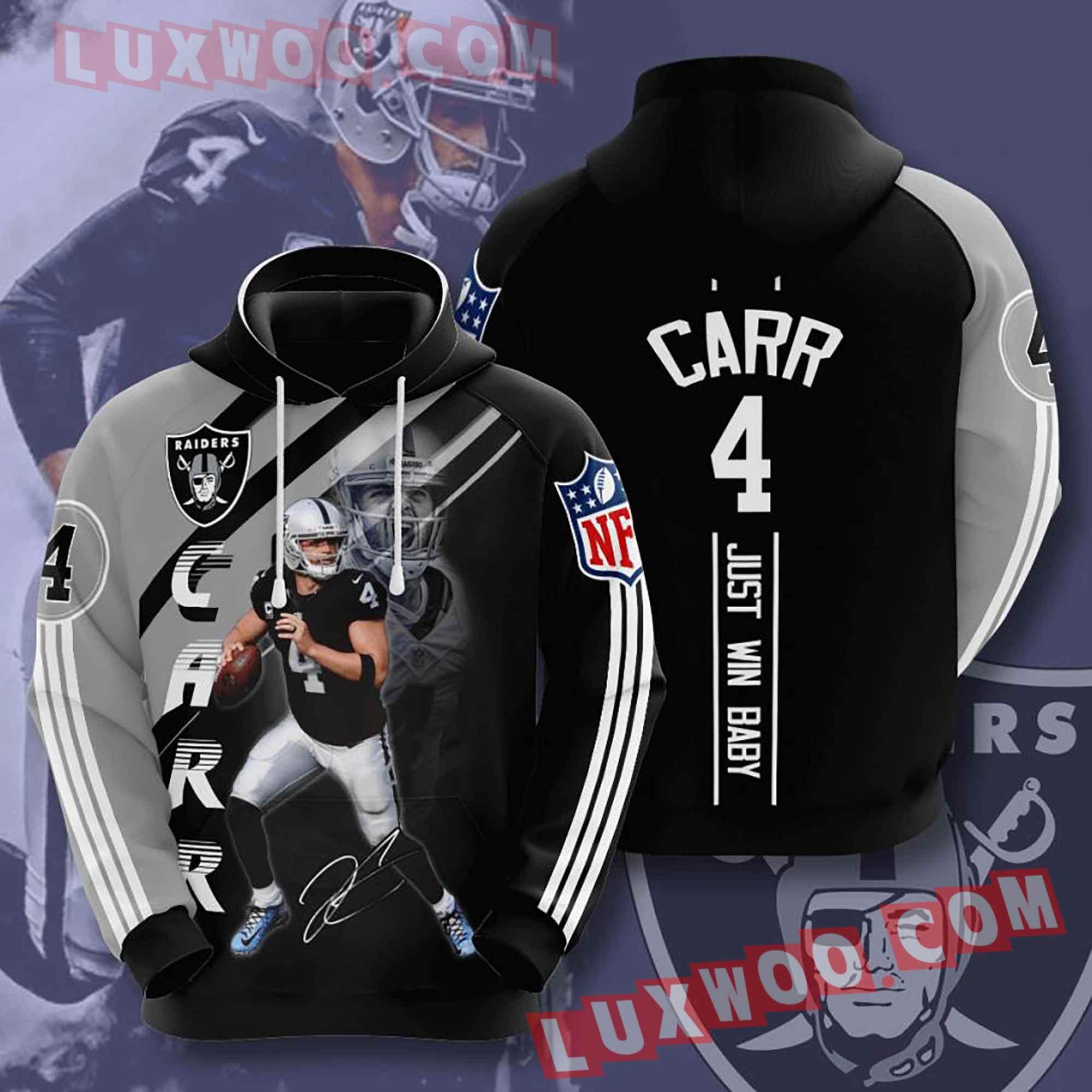 Oakland Raiders Nfl Custom All Over Print 3d Pullover Hoodie V10