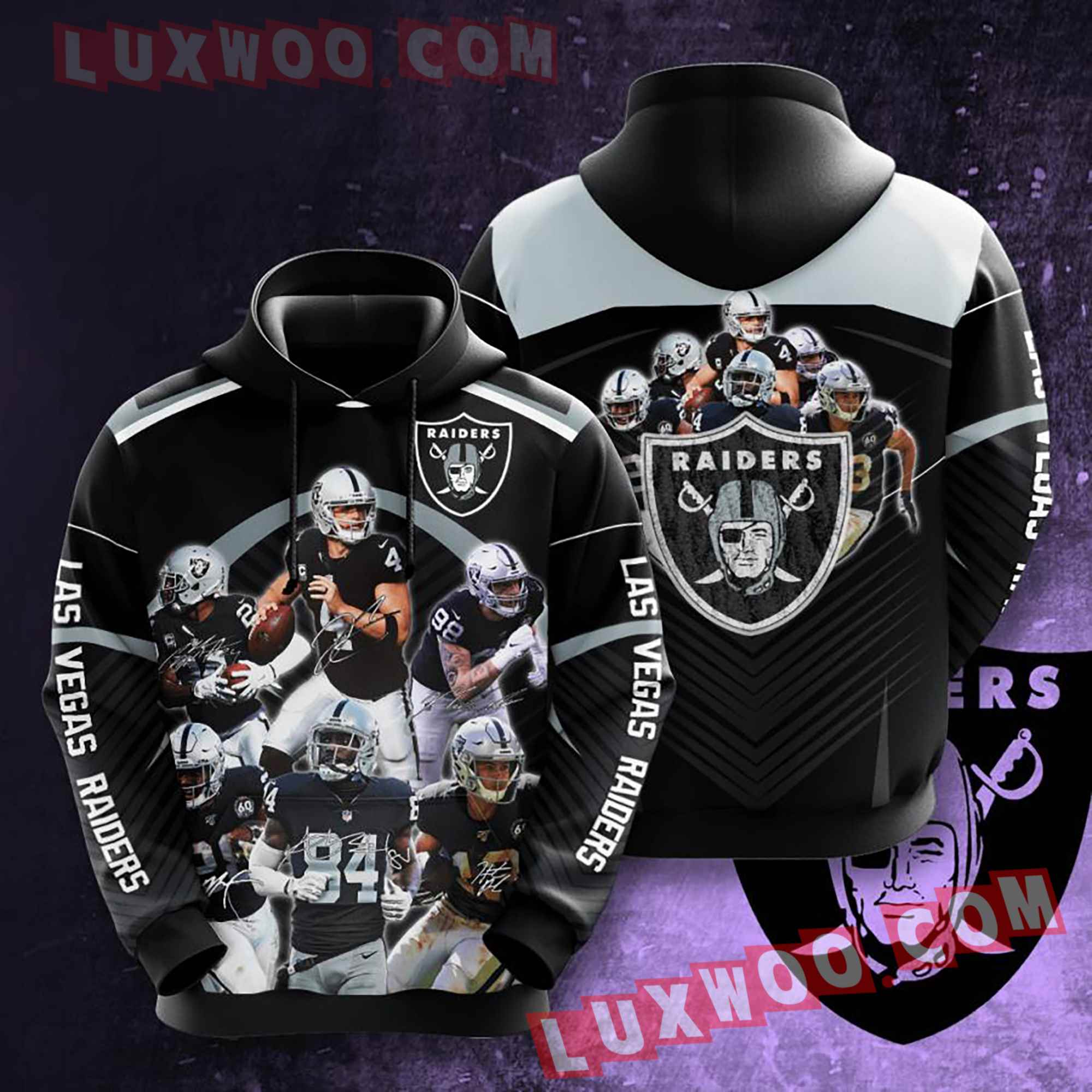 Oakland Raiders Nfl Custom All Over Print 3d Pullover Hoodie V11
