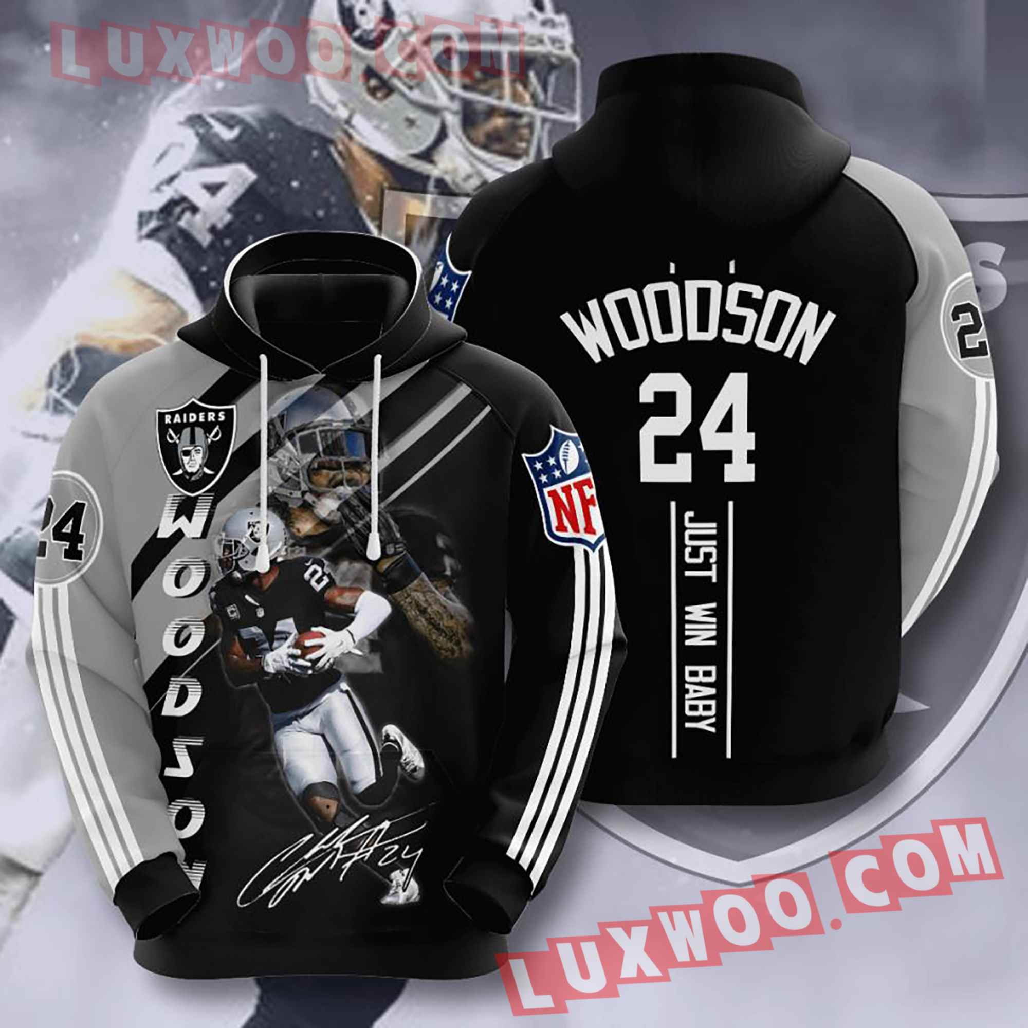 Oakland Raiders Nfl Custom All Over Print 3d Pullover Hoodie V12