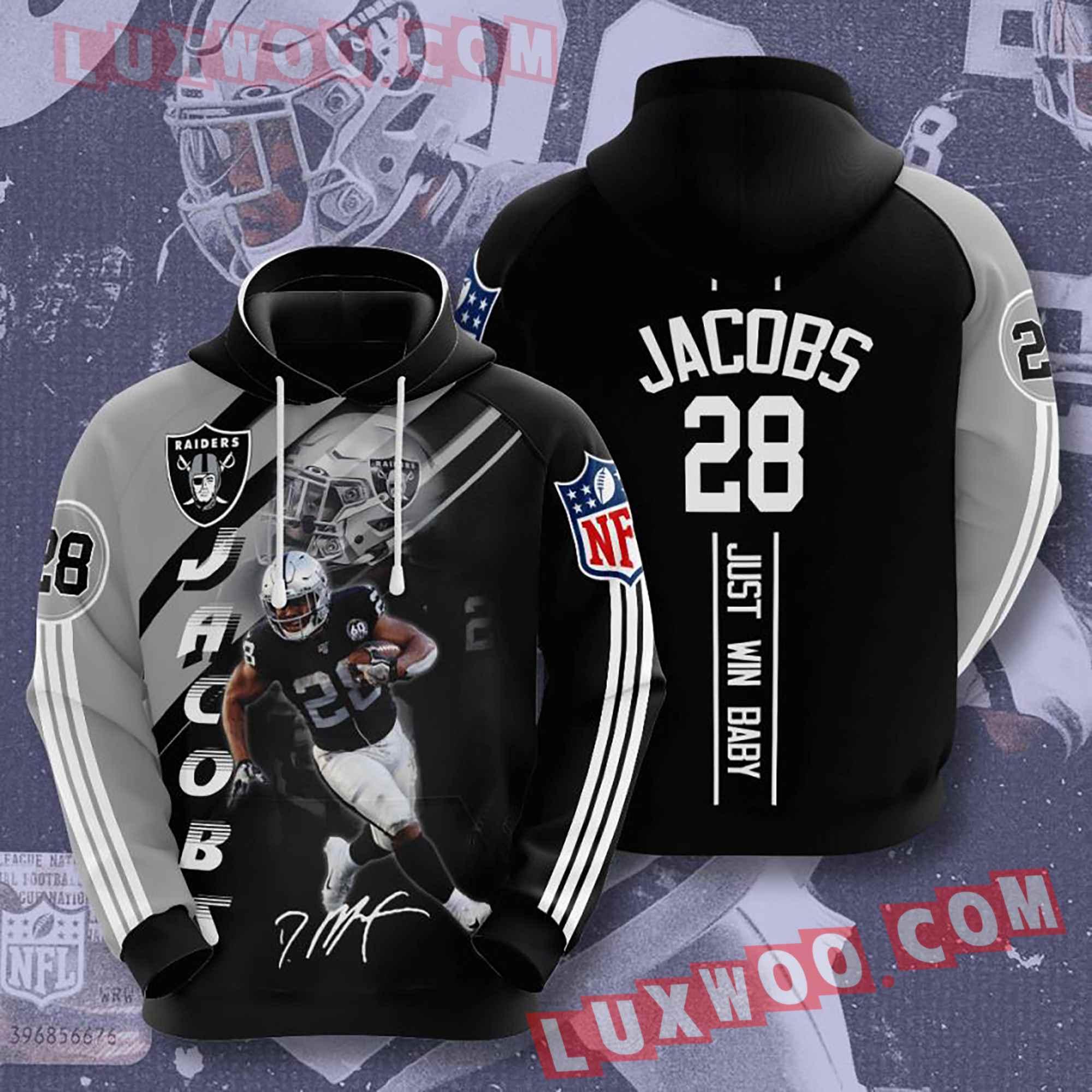 Oakland Raiders Nfl Custom All Over Print 3d Pullover Hoodie V13
