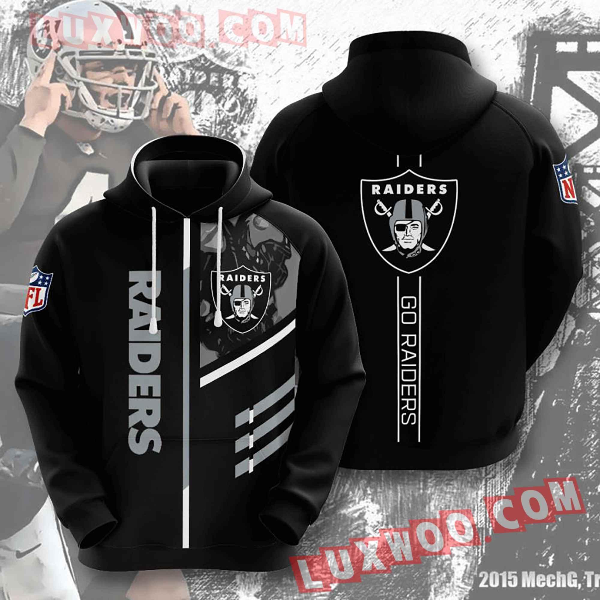Oakland Raiders Nfl Custom All Over Print 3d Pullover Hoodie V15