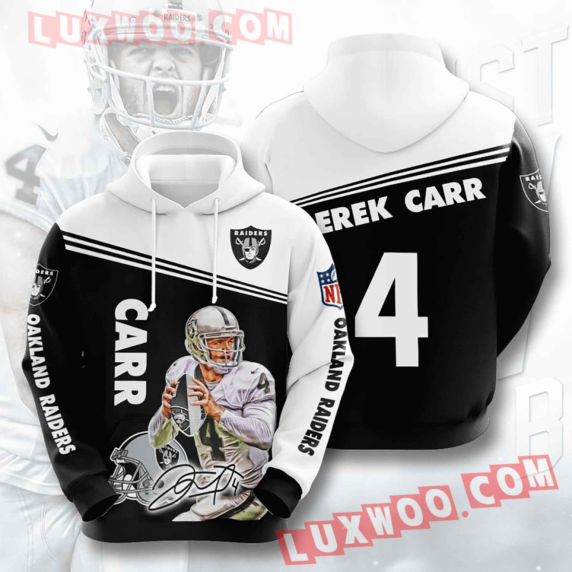 Oakland Raiders Nfl Custom All Over Print 3d Pullover Hoodie V17