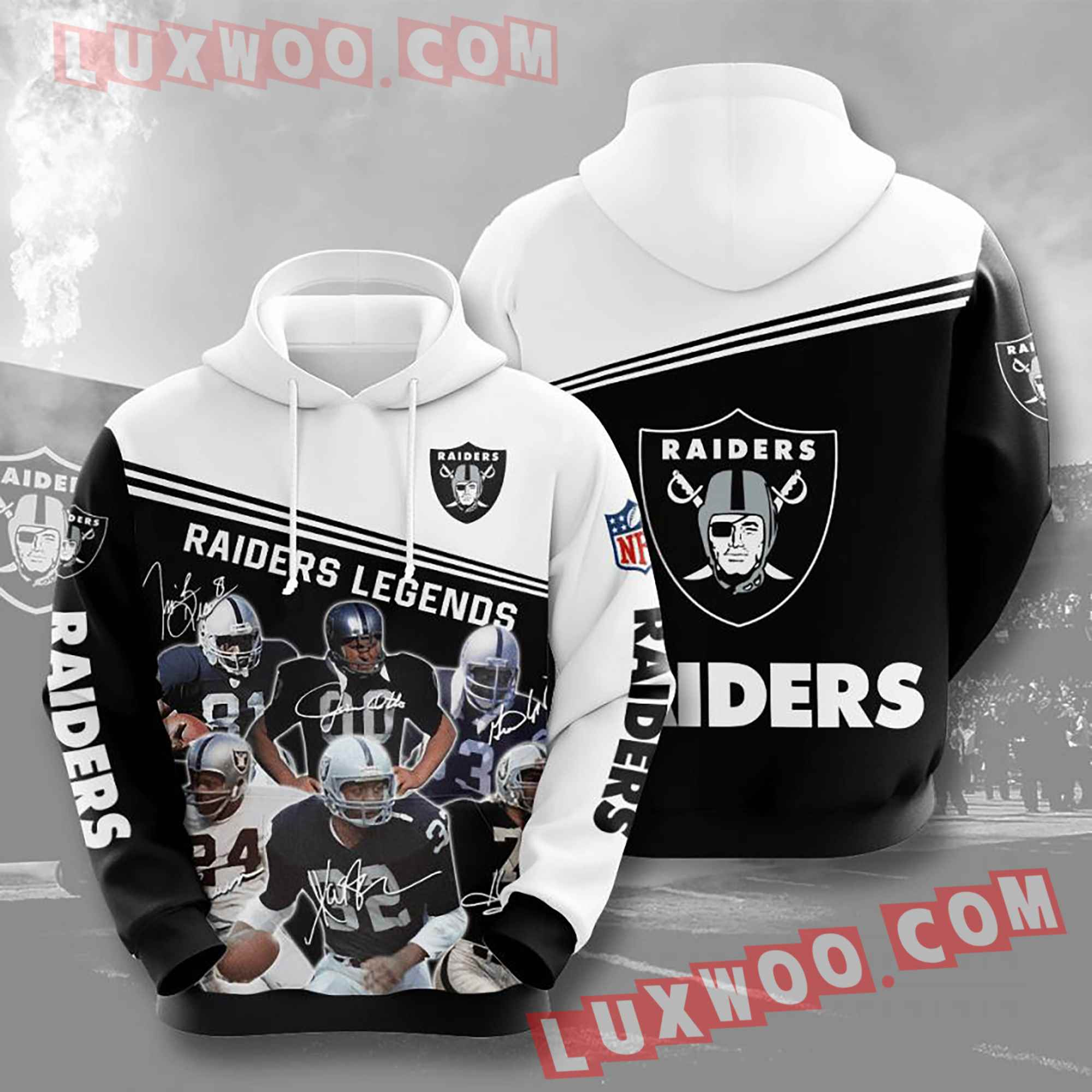 Oakland Raiders Nfl Custom All Over Print 3d Pullover Hoodie V19