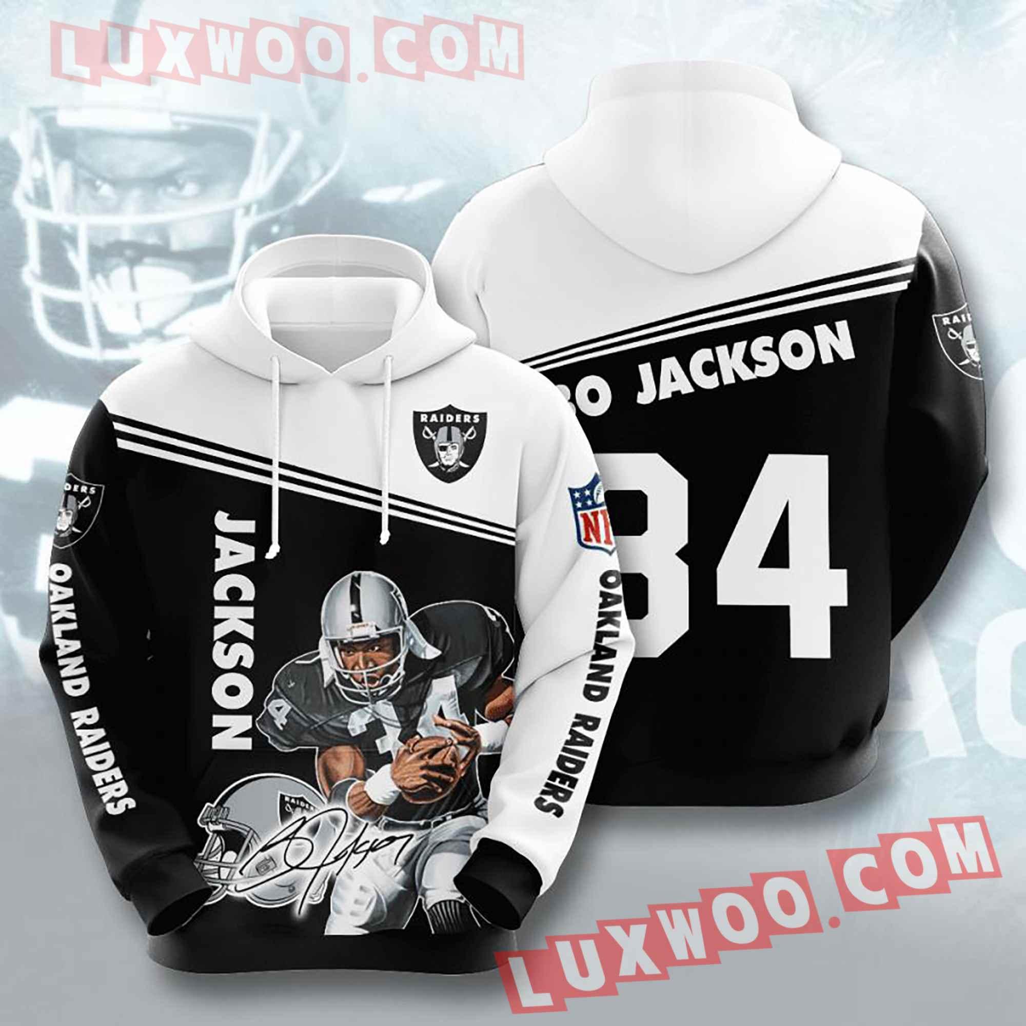 Oakland Raiders Nfl Custom All Over Print 3d Pullover Hoodie V7
