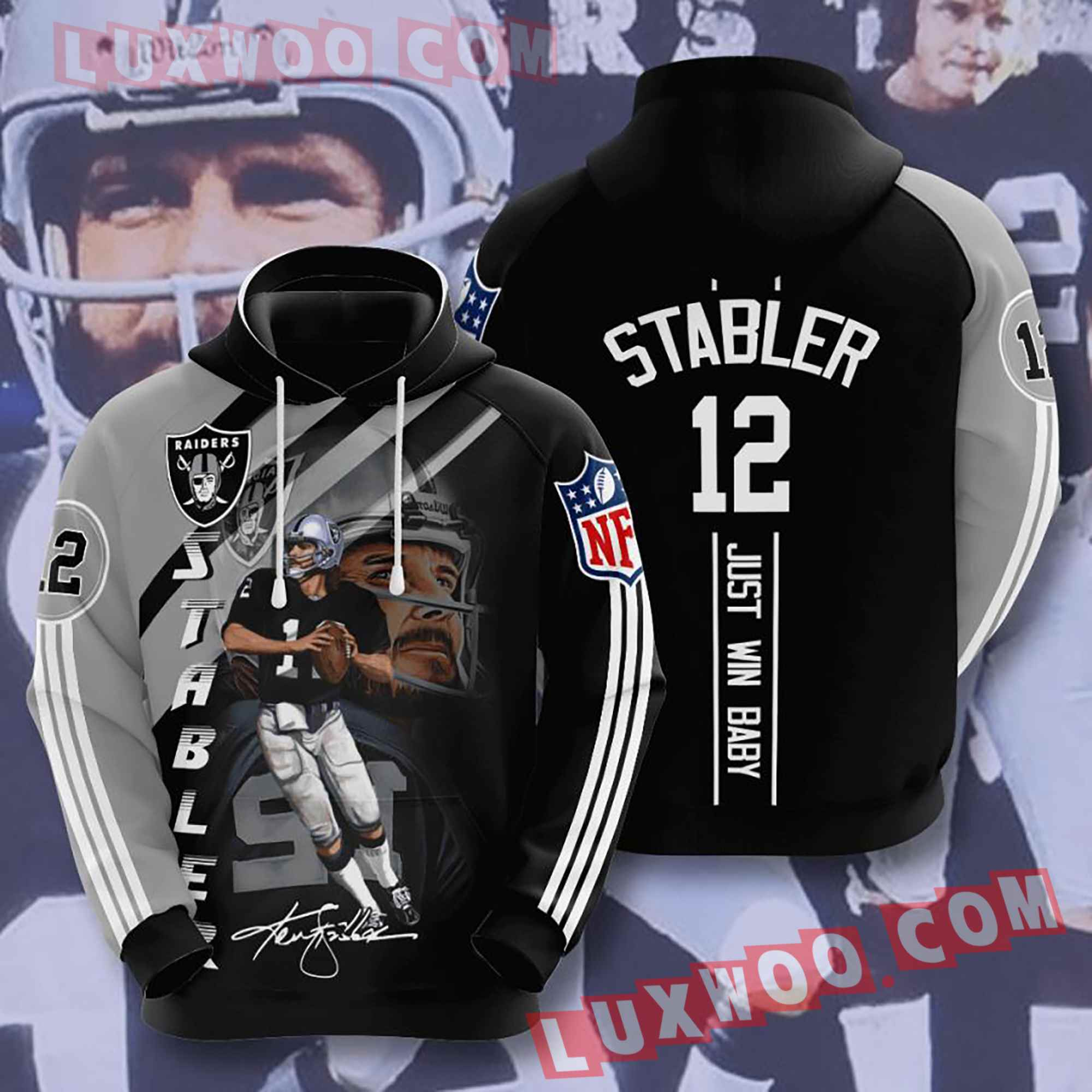 Oakland Raiders Nfl Custom All Over Print 3d Pullover Hoodie V9