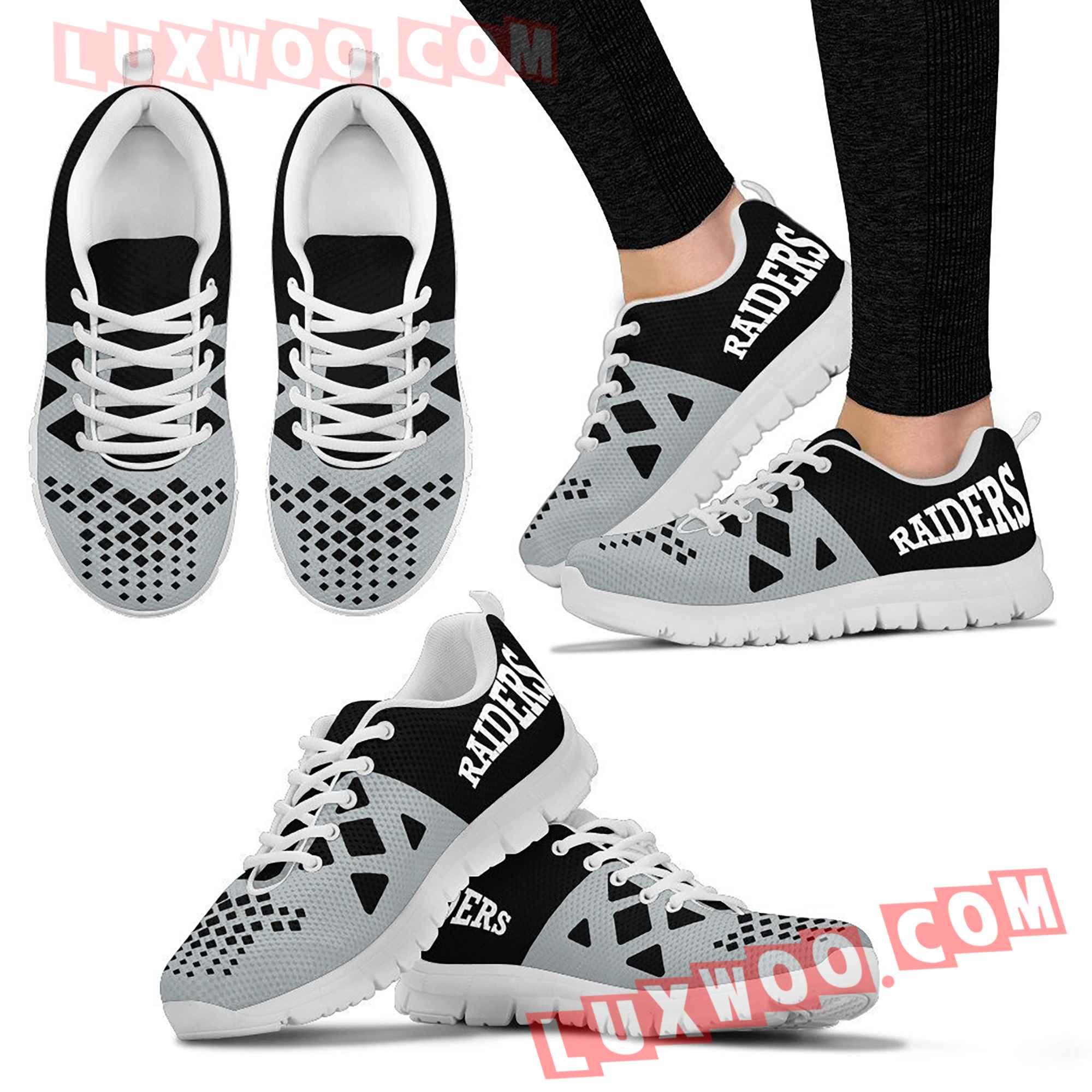 Oakland Raiders Nfl Custom Shoes Sneaker V2
