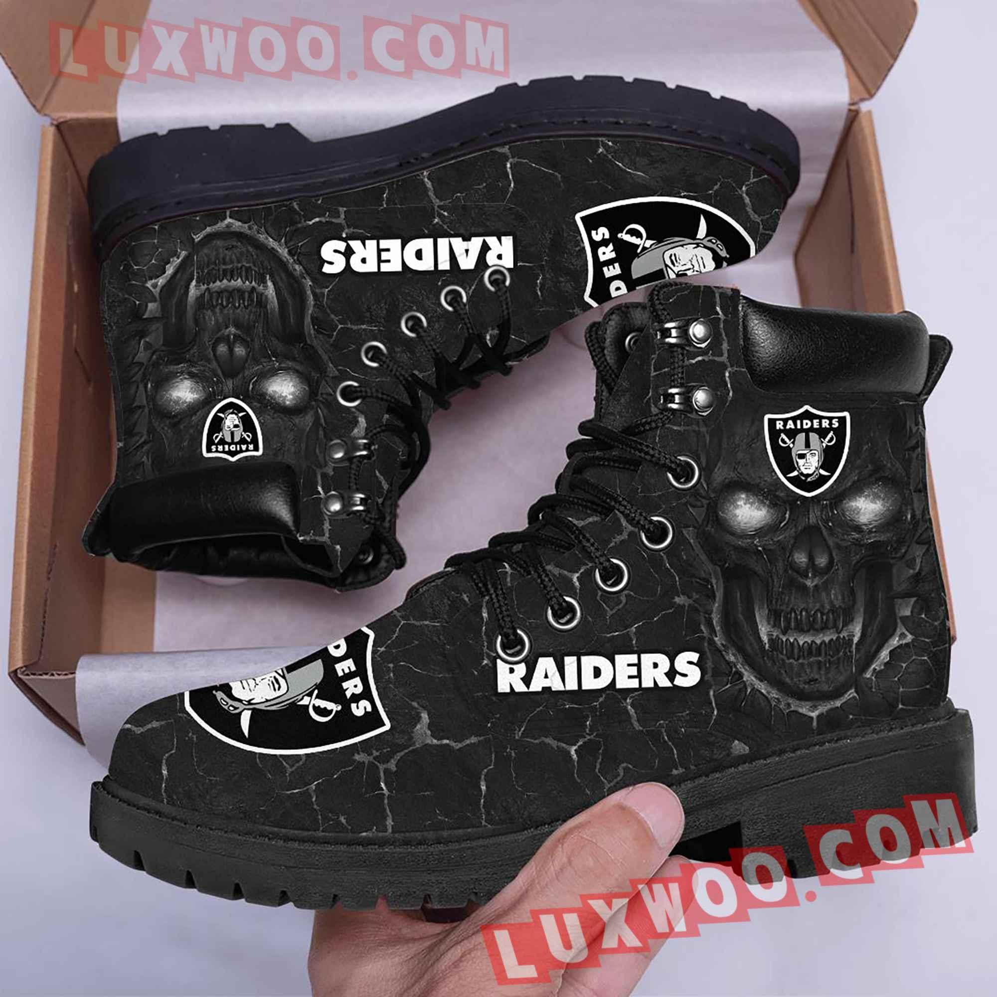 Oakland Raiders Nfl Season Boots Shoes V2
