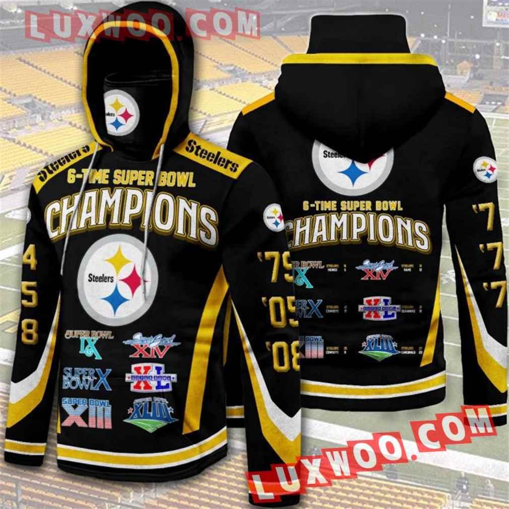 Nfl Pittsburgh Steelers Hoodies Custom All Over Print 3d Pullover Hoodie V10