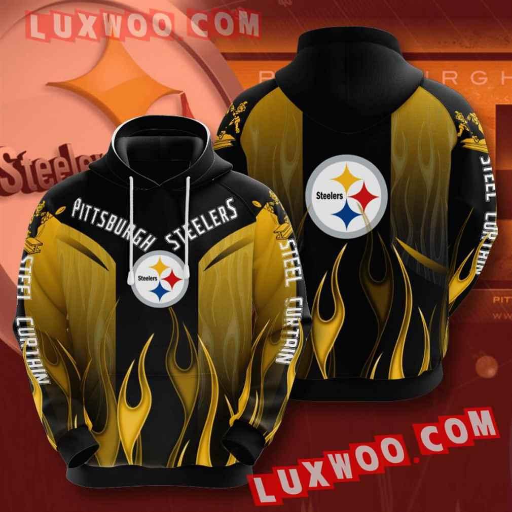 Nfl Pittsburgh Steelers Hoodies Custom All Over Print 3d Pullover Hoodie V11