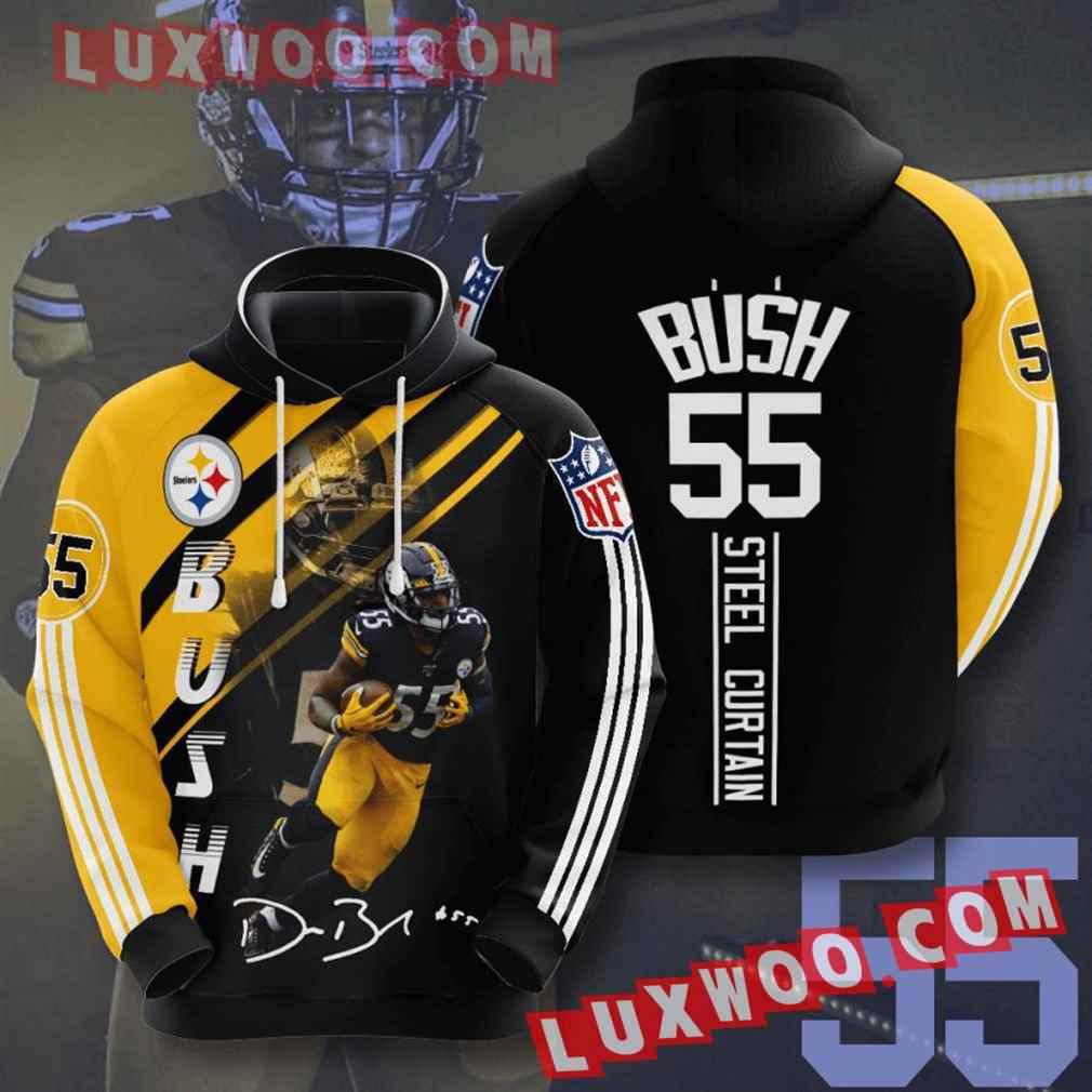 Nfl Pittsburgh Steelers Hoodies Custom All Over Print 3d Pullover Hoodie V14