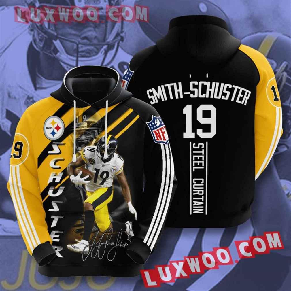 Nfl Pittsburgh Steelers Hoodies Custom All Over Print 3d Pullover Hoodie V16