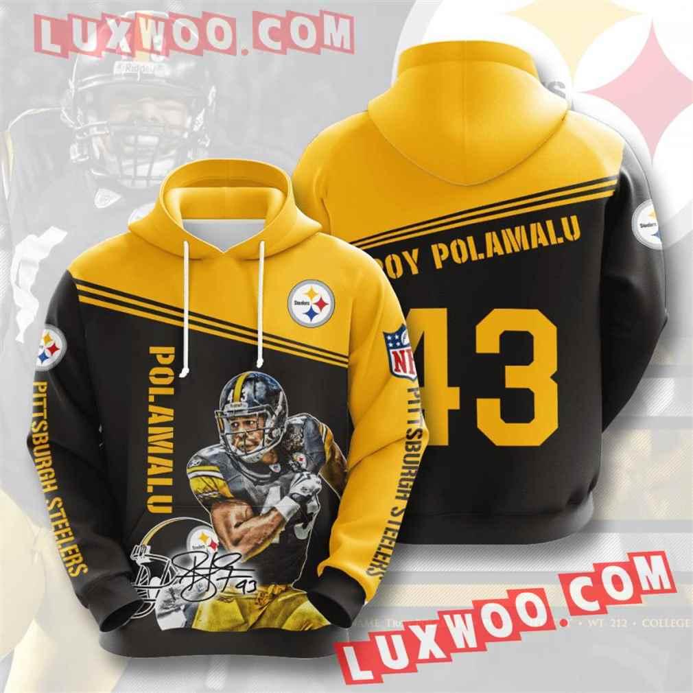 Nfl Pittsburgh Steelers Hoodies Custom All Over Print 3d Pullover Hoodie V18