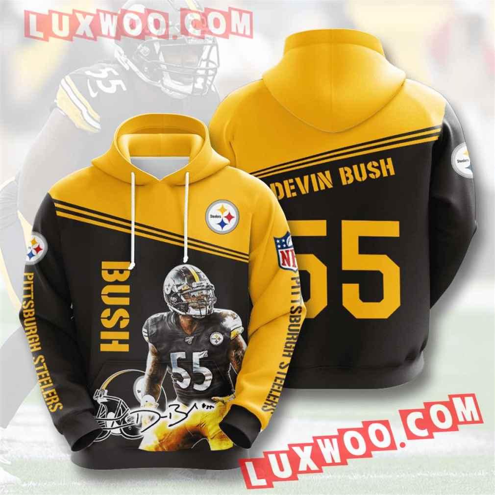 Nfl Pittsburgh Steelers Hoodies Custom All Over Print 3d Pullover Hoodie V19