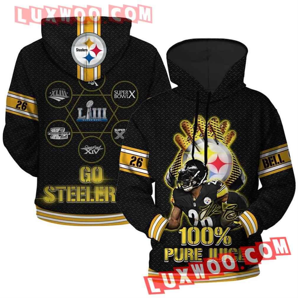 Nfl Pittsburgh Steelers Hoodies Custom All Over Print 3d Pullover Hoodie V2