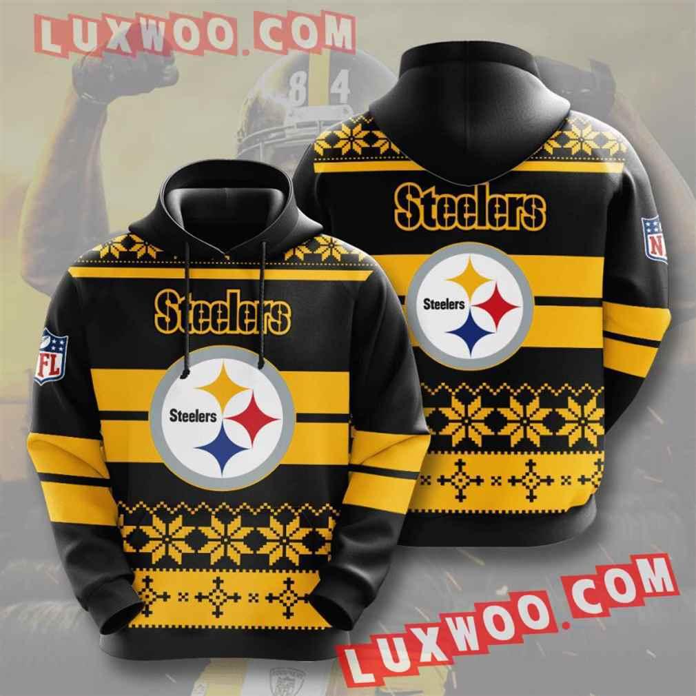 Nfl Pittsburgh Steelers Hoodies Custom All Over Print 3d Pullover Hoodie V20