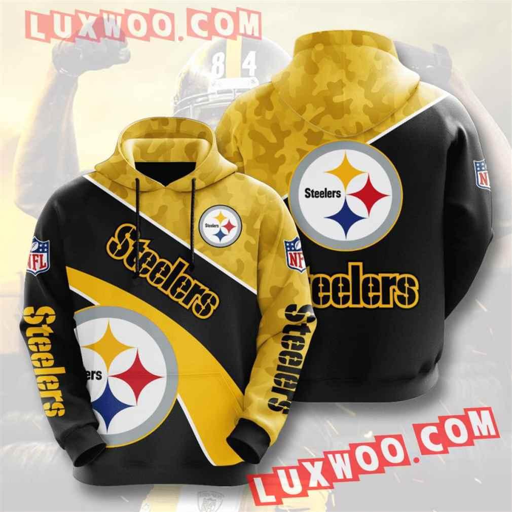 Nfl Pittsburgh Steelers Hoodies Custom All Over Print 3d Pullover Hoodie V21