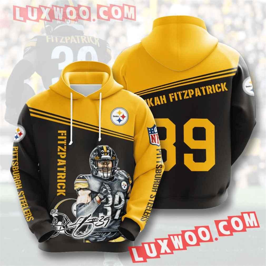 Nfl Pittsburgh Steelers Hoodies Custom All Over Print 3d Pullover Hoodie V26