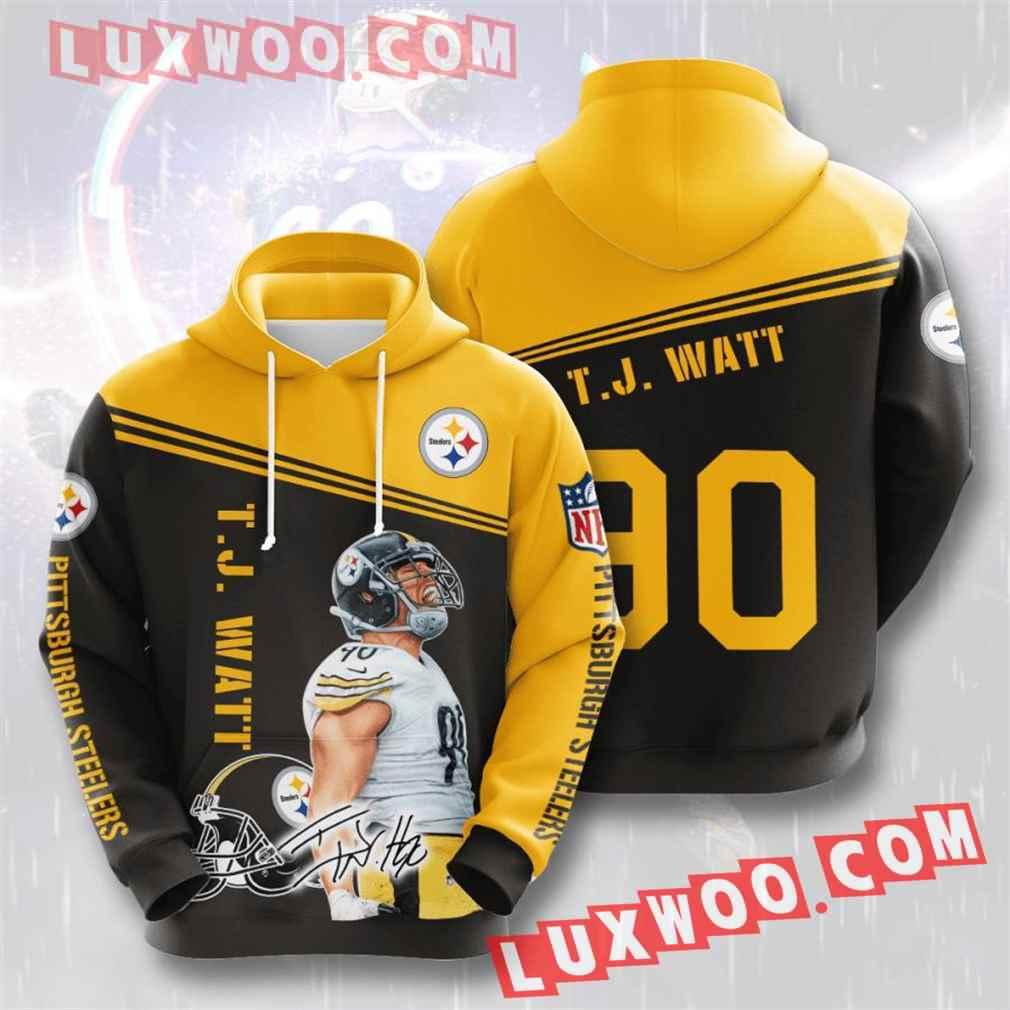 Nfl Pittsburgh Steelers Hoodies Custom All Over Print 3d Pullover Hoodie V27