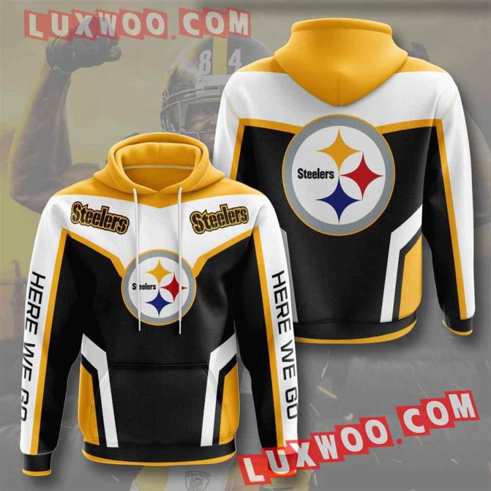Nfl Pittsburgh Steelers Hoodies Custom All Over Print 3d Pullover Hoodie V28
