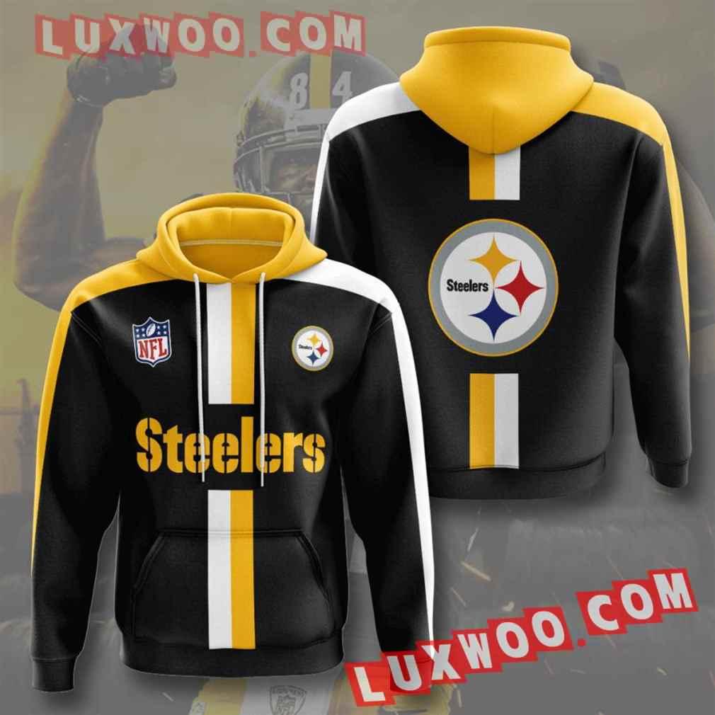 Nfl Pittsburgh Steelers Hoodies Custom All Over Print 3d Pullover Hoodie V29