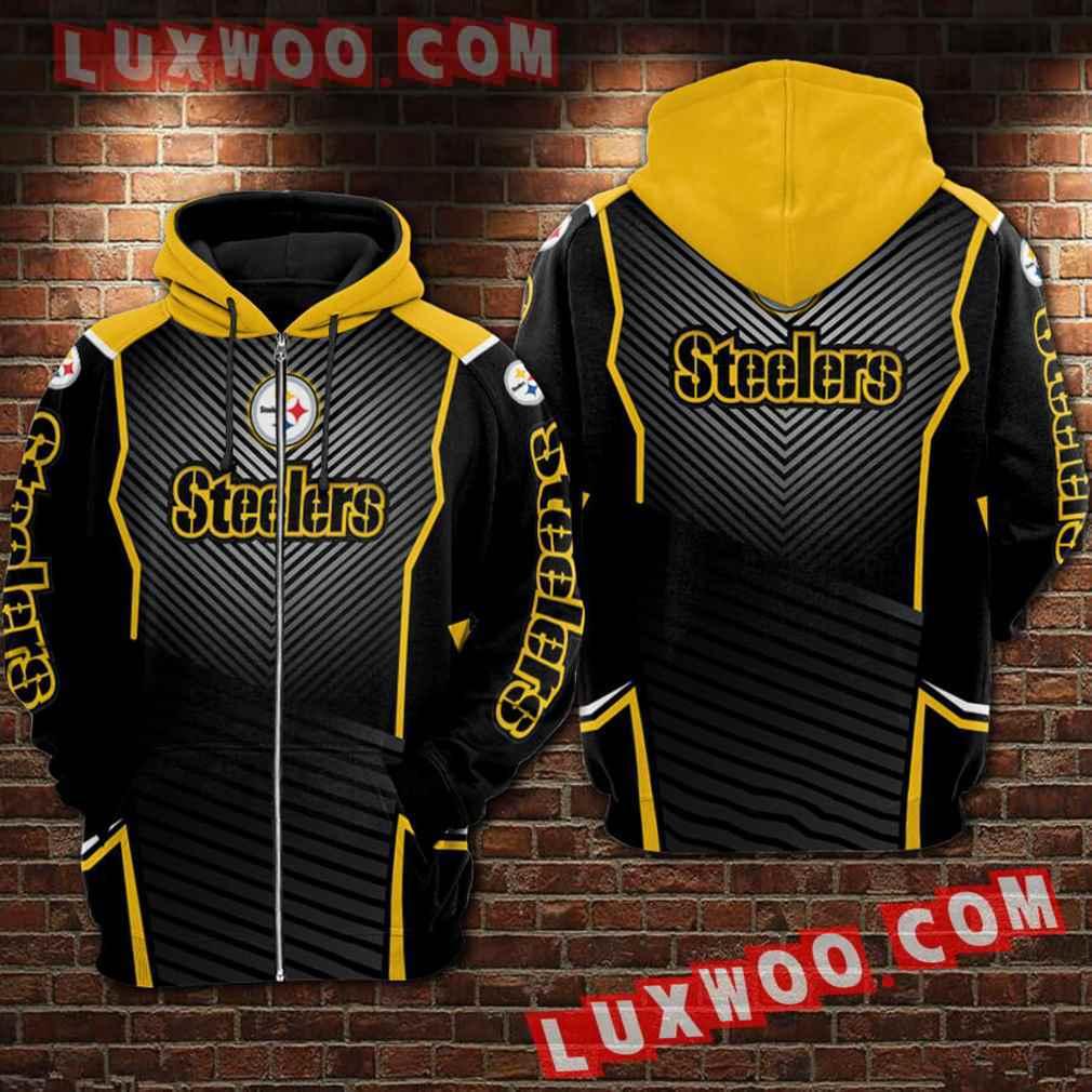 Nfl Pittsburgh Steelers Hoodies Custom All Over Print 3d Pullover Hoodie V3