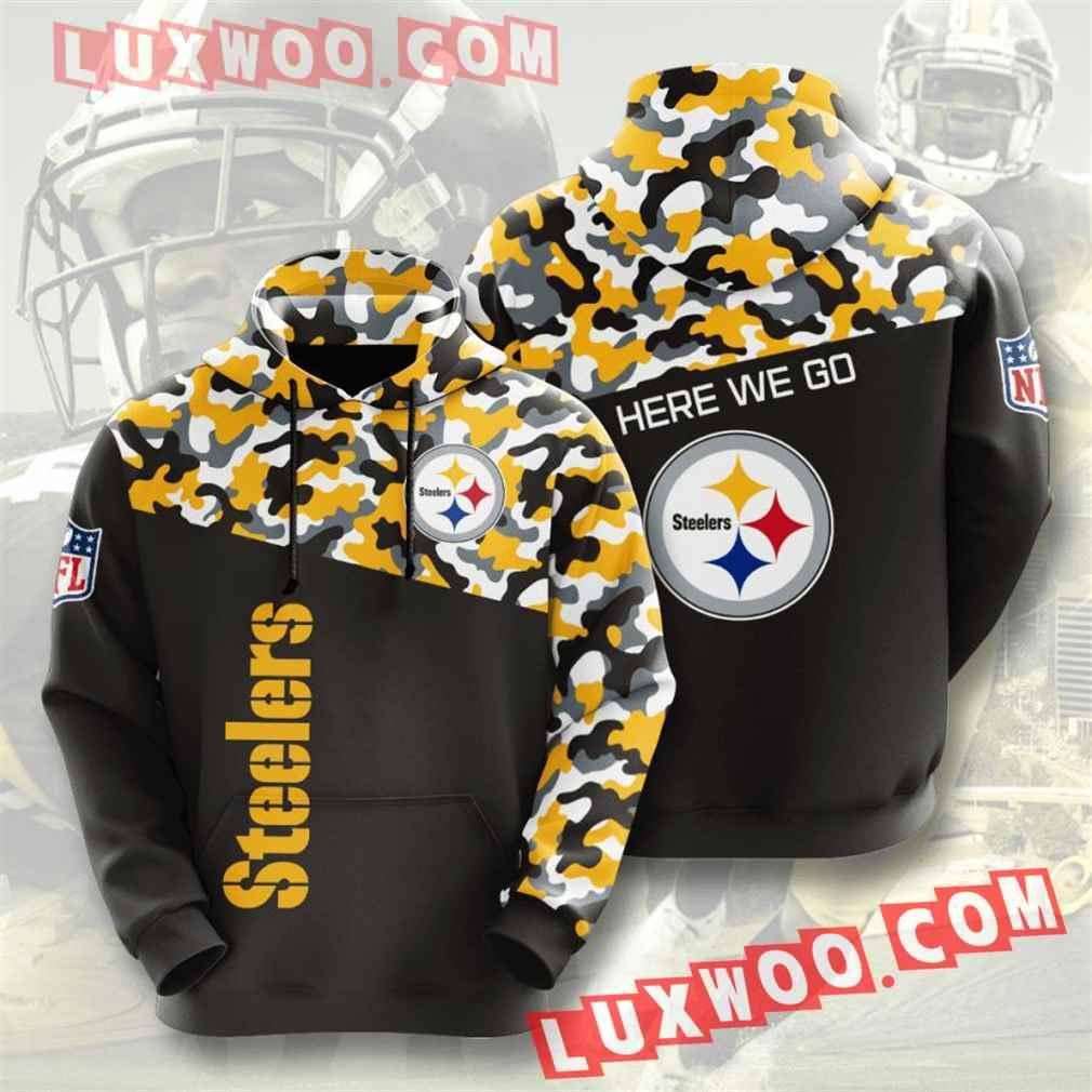 Nfl Pittsburgh Steelers Hoodies Custom All Over Print 3d Pullover Hoodie V31