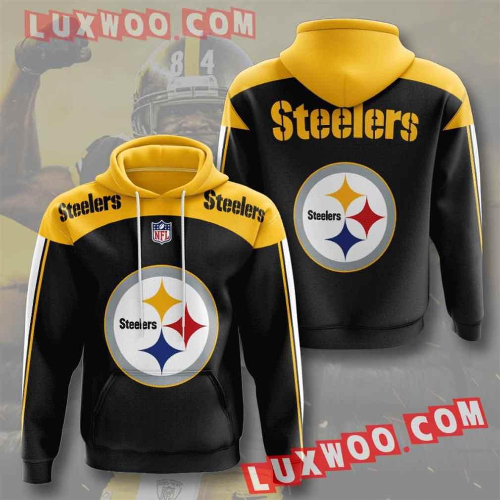 Nfl Pittsburgh Steelers Hoodies Custom All Over Print 3d Pullover Hoodie V32