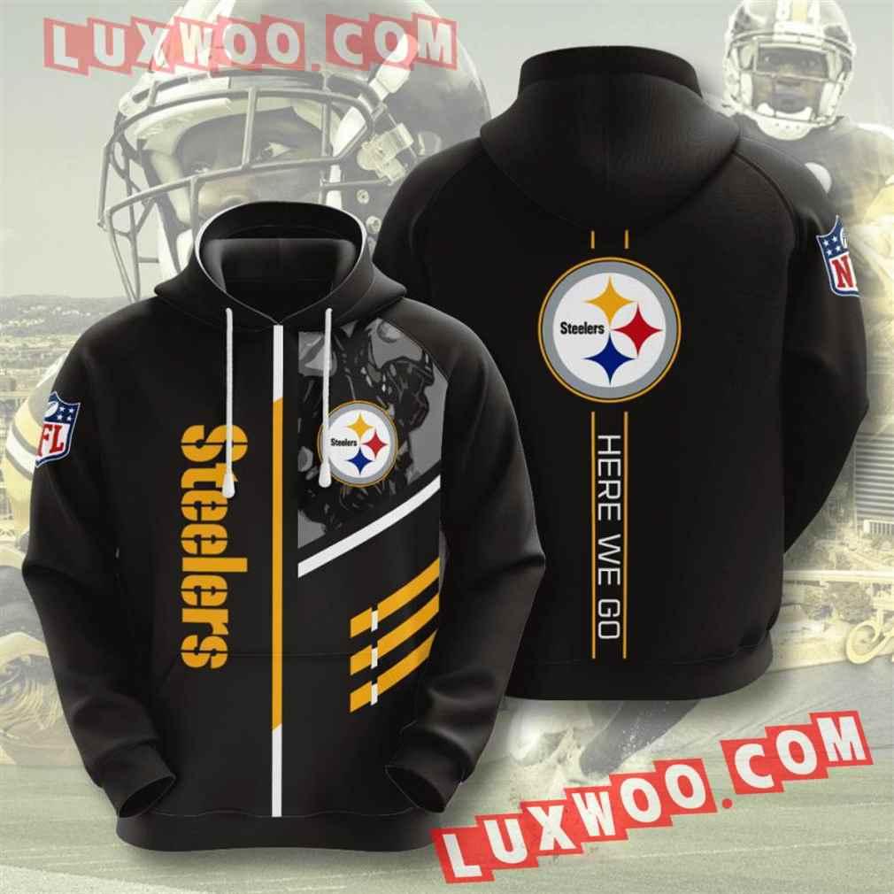 Nfl Pittsburgh Steelers Hoodies Custom All Over Print 3d Pullover Hoodie V35