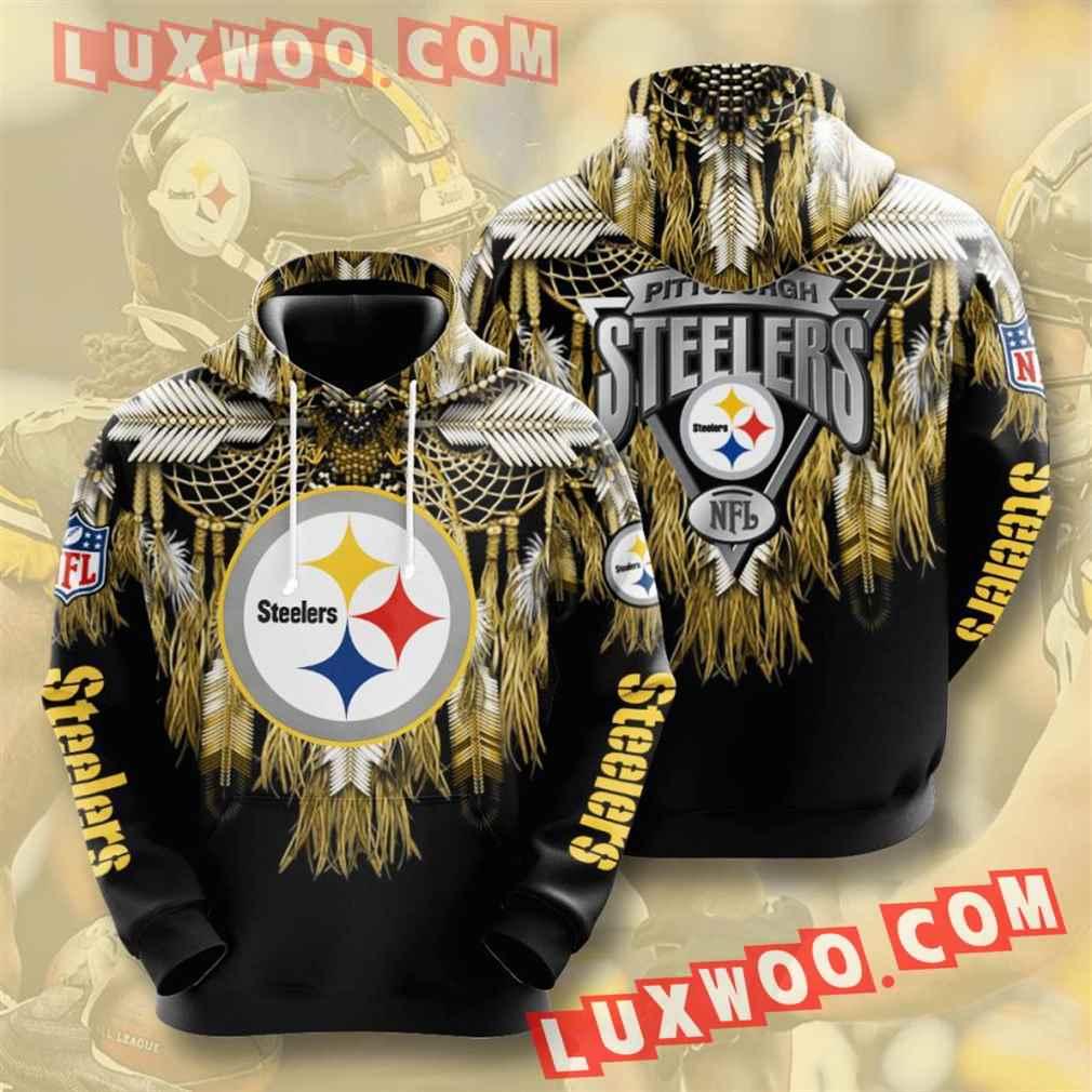 Nfl Pittsburgh Steelers Hoodies Custom All Over Print 3d Pullover Hoodie V37
