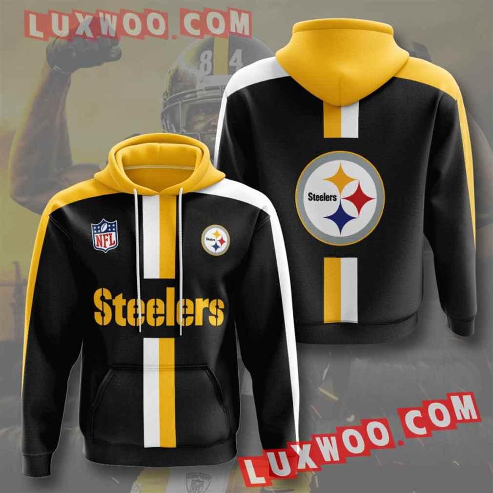 Nfl Pittsburgh Steelers Hoodies Custom All Over Print 3d Pullover Hoodie V38