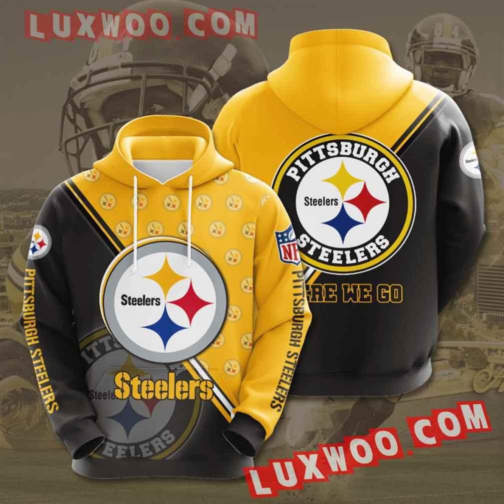 Nfl Pittsburgh Steelers Hoodies Custom All Over Print 3d Pullover Hoodie V39