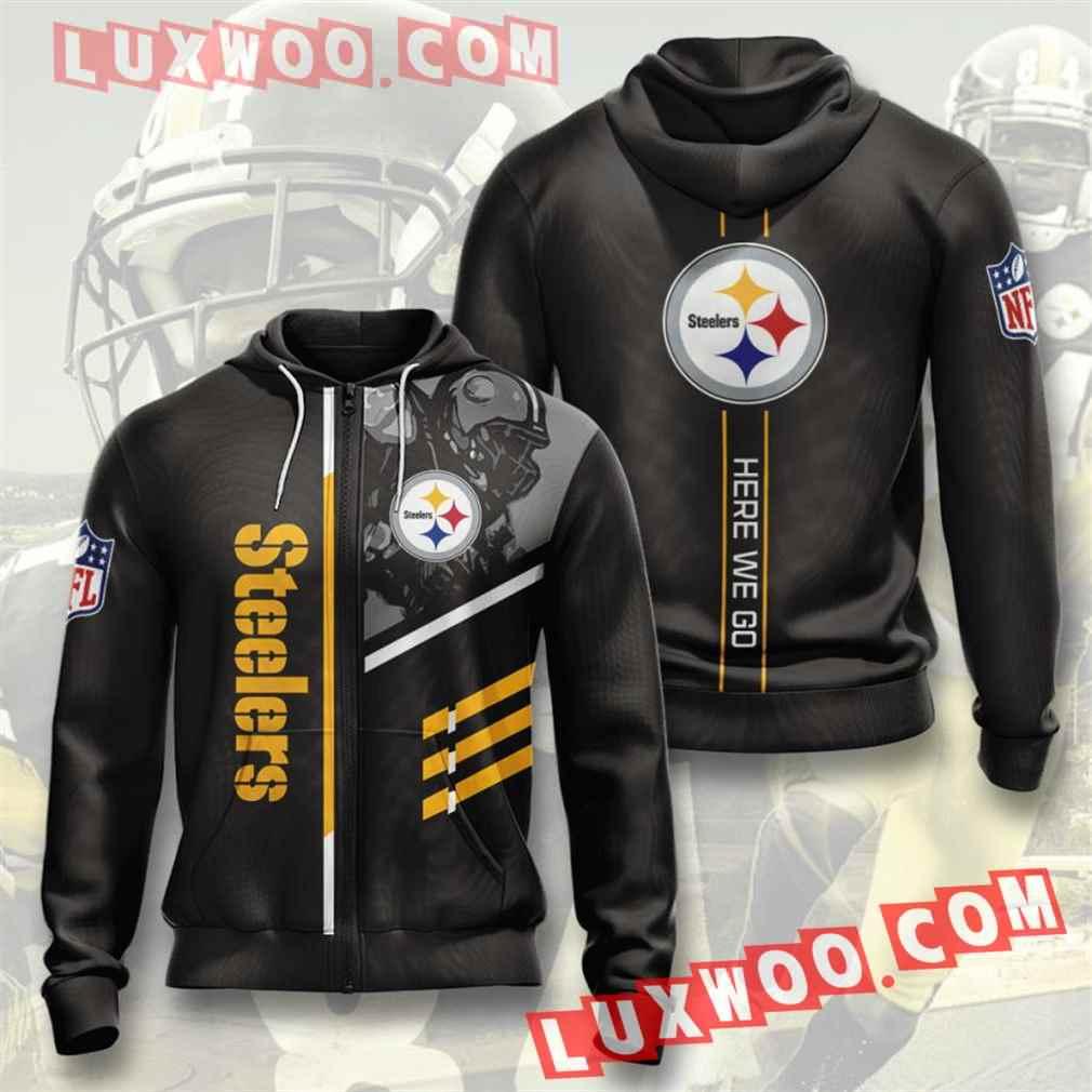 Nfl Pittsburgh Steelers Hoodies Custom All Over Print 3d Pullover Hoodie V40