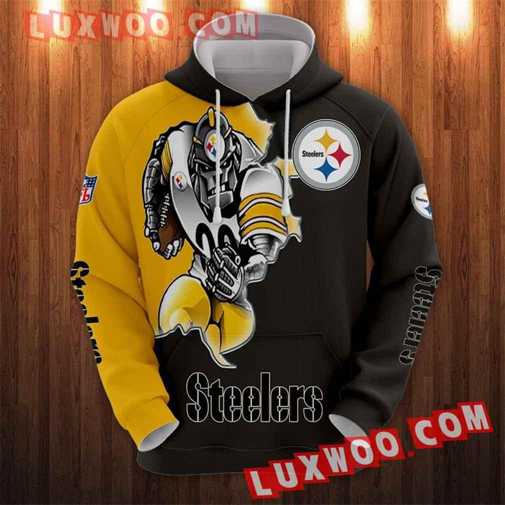 Nfl Pittsburgh Steelers Hoodies Custom All Over Print 3d Pullover Hoodie V41