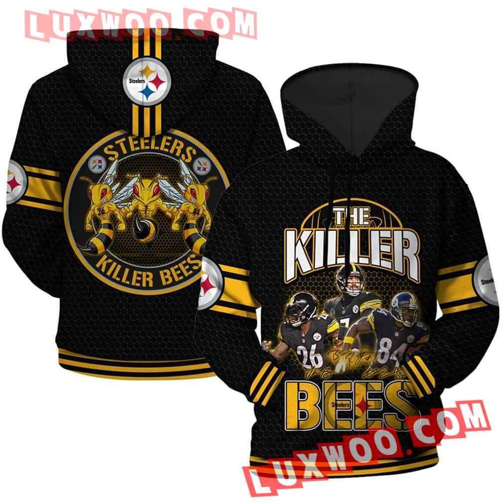 Nfl Pittsburgh Steelers Hoodies Custom All Over Print 3d Pullover Hoodie V5