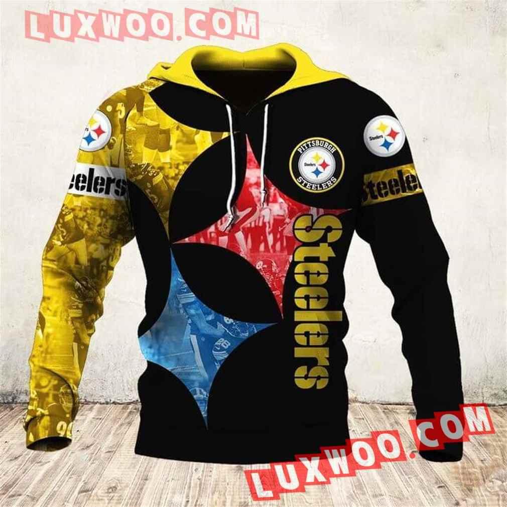 Nfl Pittsburgh Steelers Hoodies Custom All Over Print 3d Pullover Hoodie V6
