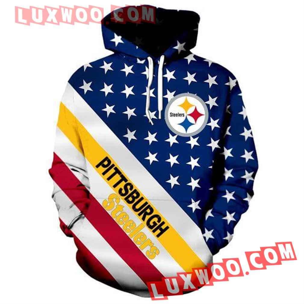 Nfl Pittsburgh Steelers Hoodies Custom All Over Print 3d Pullover Hoodie V7