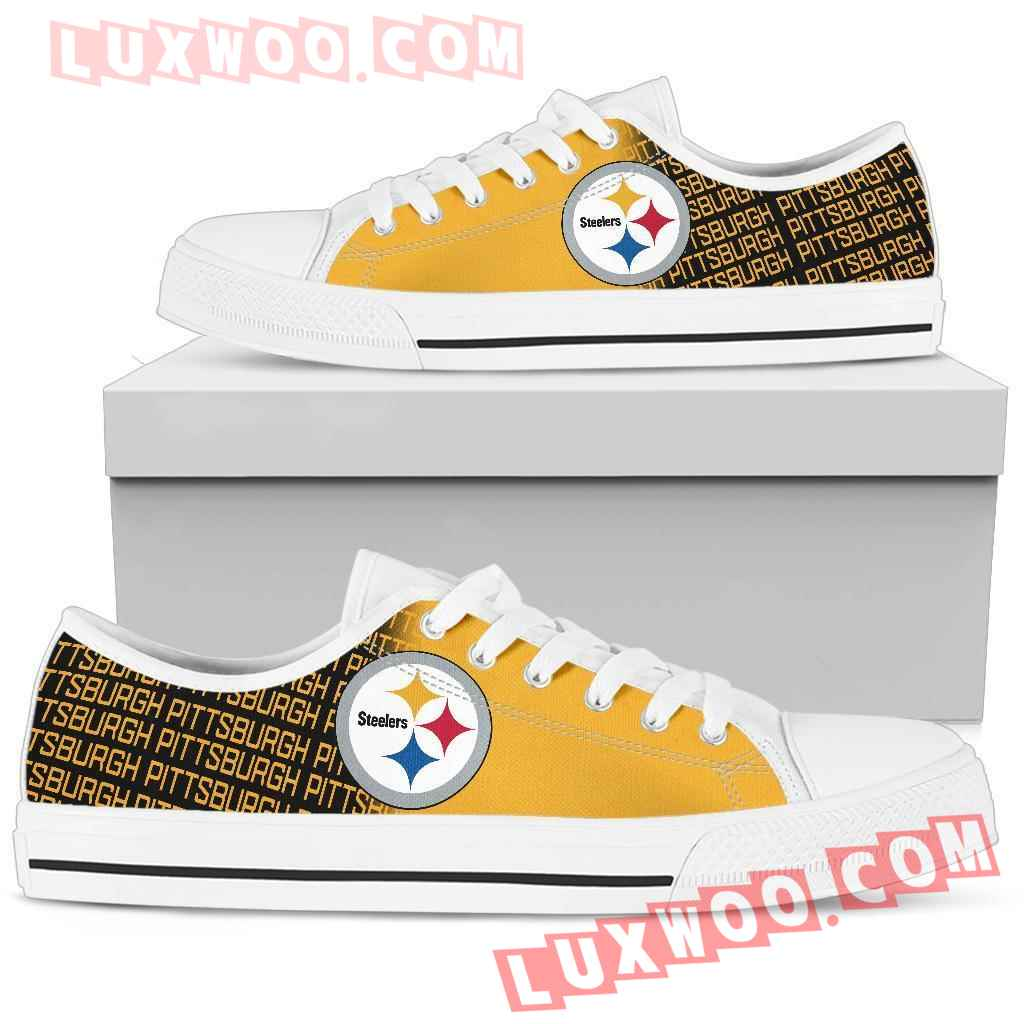 Nfl Pittsburgh Steelers Low Top Shoes Sneaker Sport V3