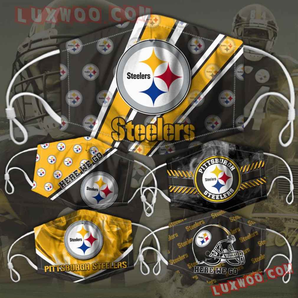Pittsburgh Steelers 3d Face Mask Combo 5 V1