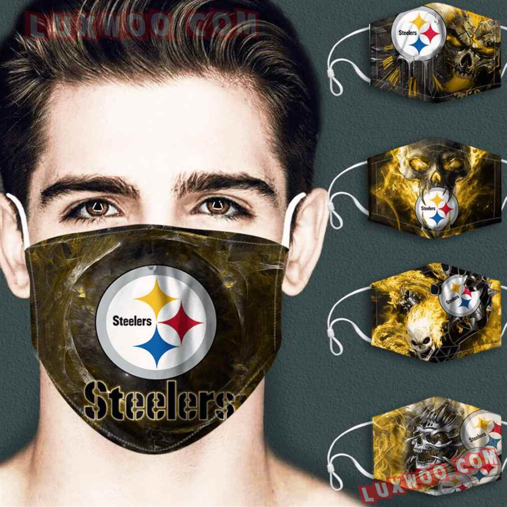Pittsburgh Steelers 3d Face Mask Combo 5 V3