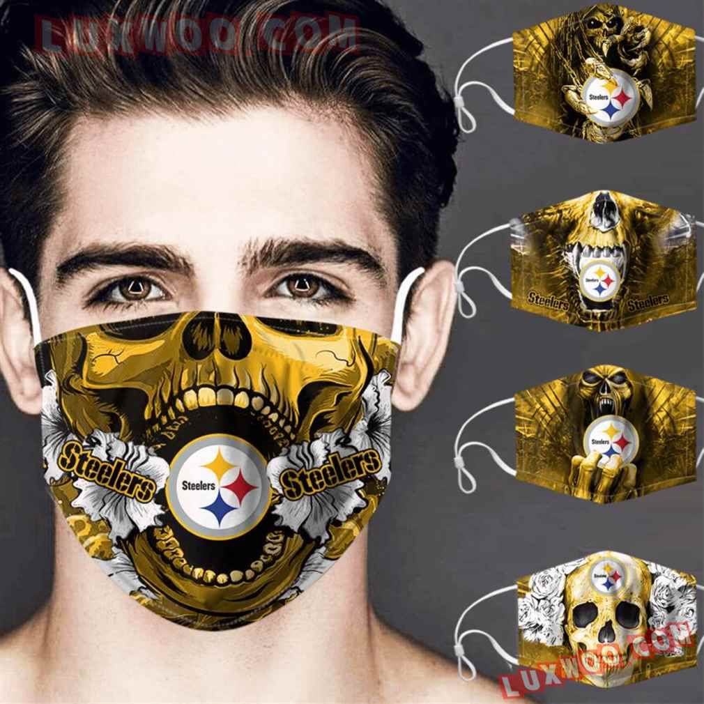 Pittsburgh Steelers 3d Face Mask Combo 5 V4