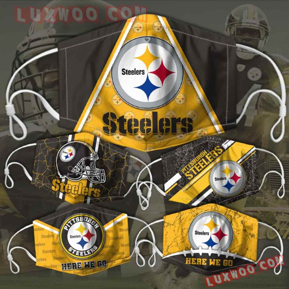Pittsburgh Steelers 3d Face Mask Combo 5 V5
