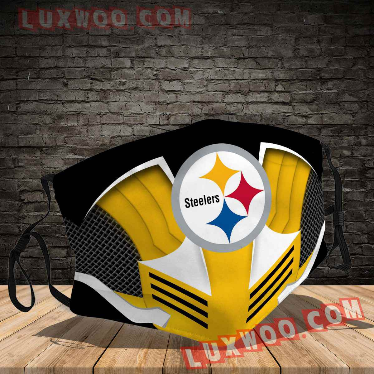 Pittsburgh Steelers 3d Face Mask V1