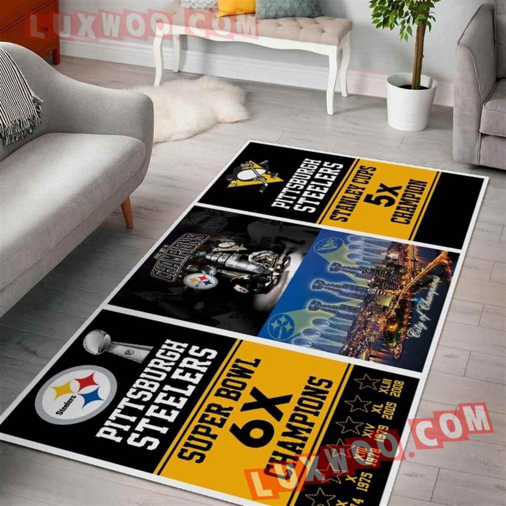 Pittsburgh Steelers Nfl 3d Living Room Rugs V5