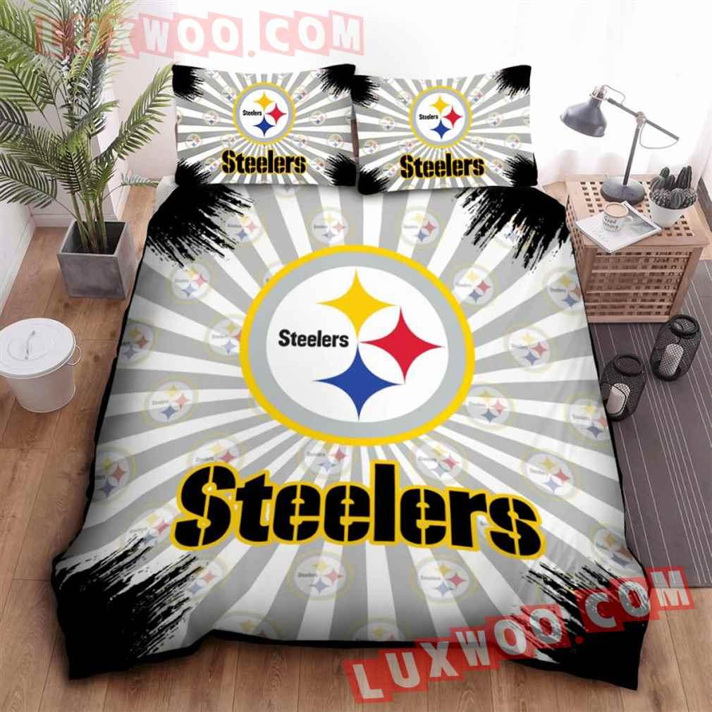 Pittsburgh Steelers Nfl 3d Quilt Bedding Set V9