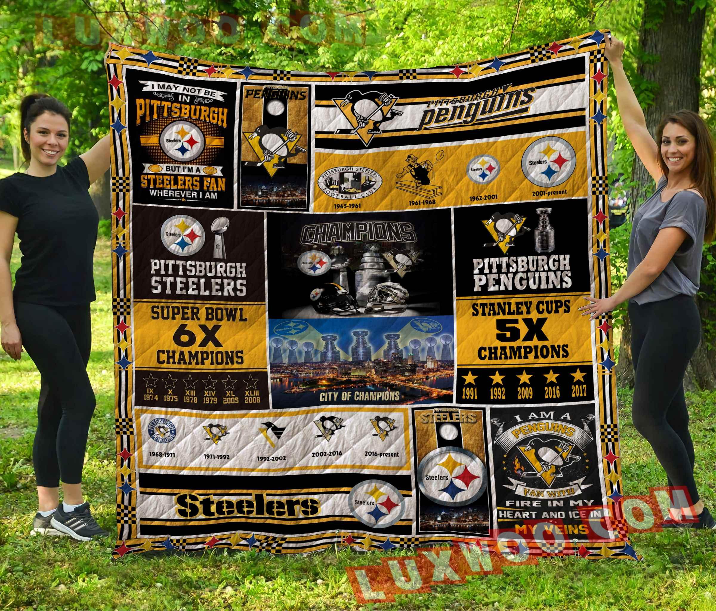 Pittsburgh Steelers Nfl 3d Quilt Blanket V2
