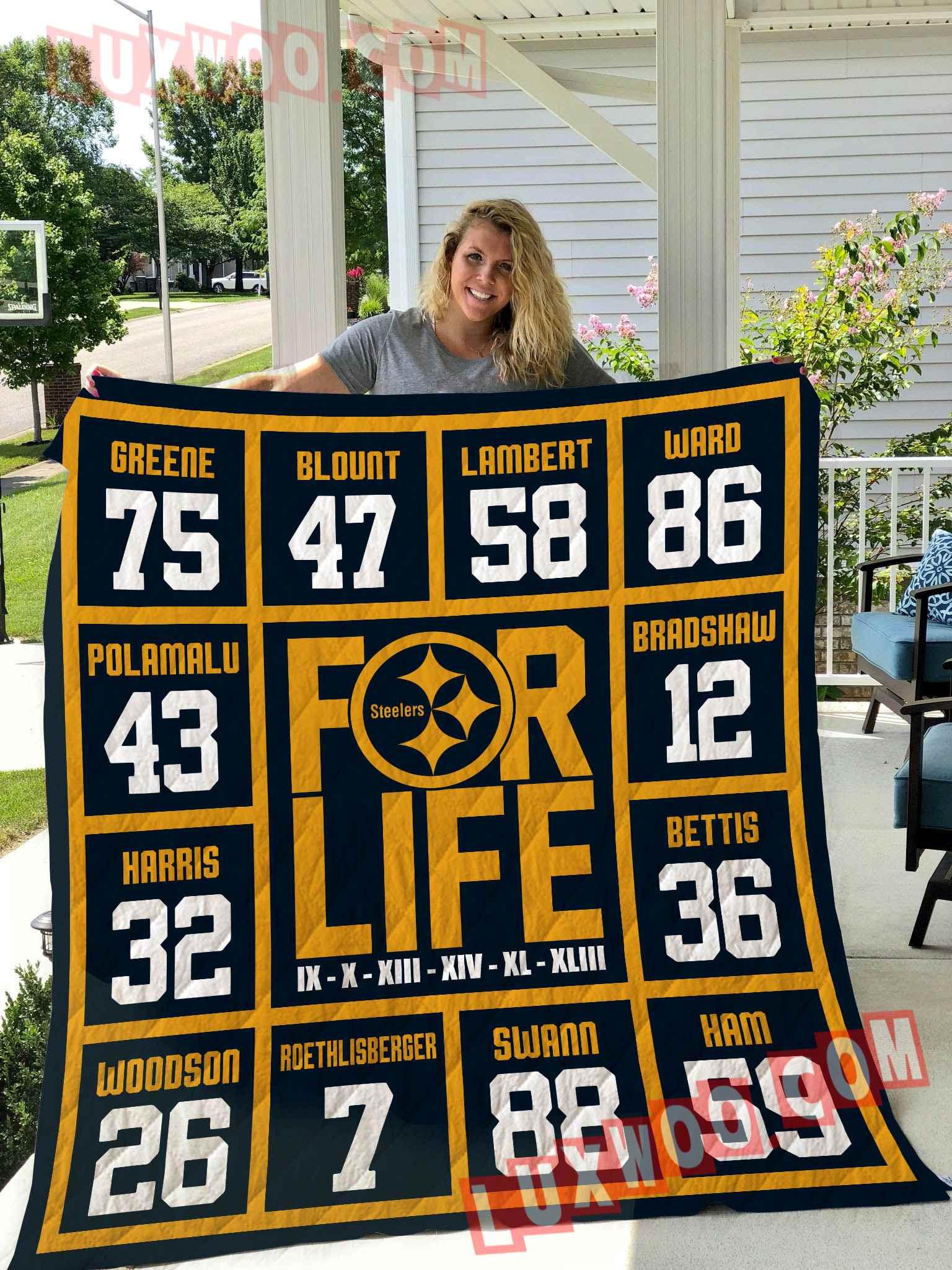 Pittsburgh Steelers Nfl 3d Quilt Blanket V3