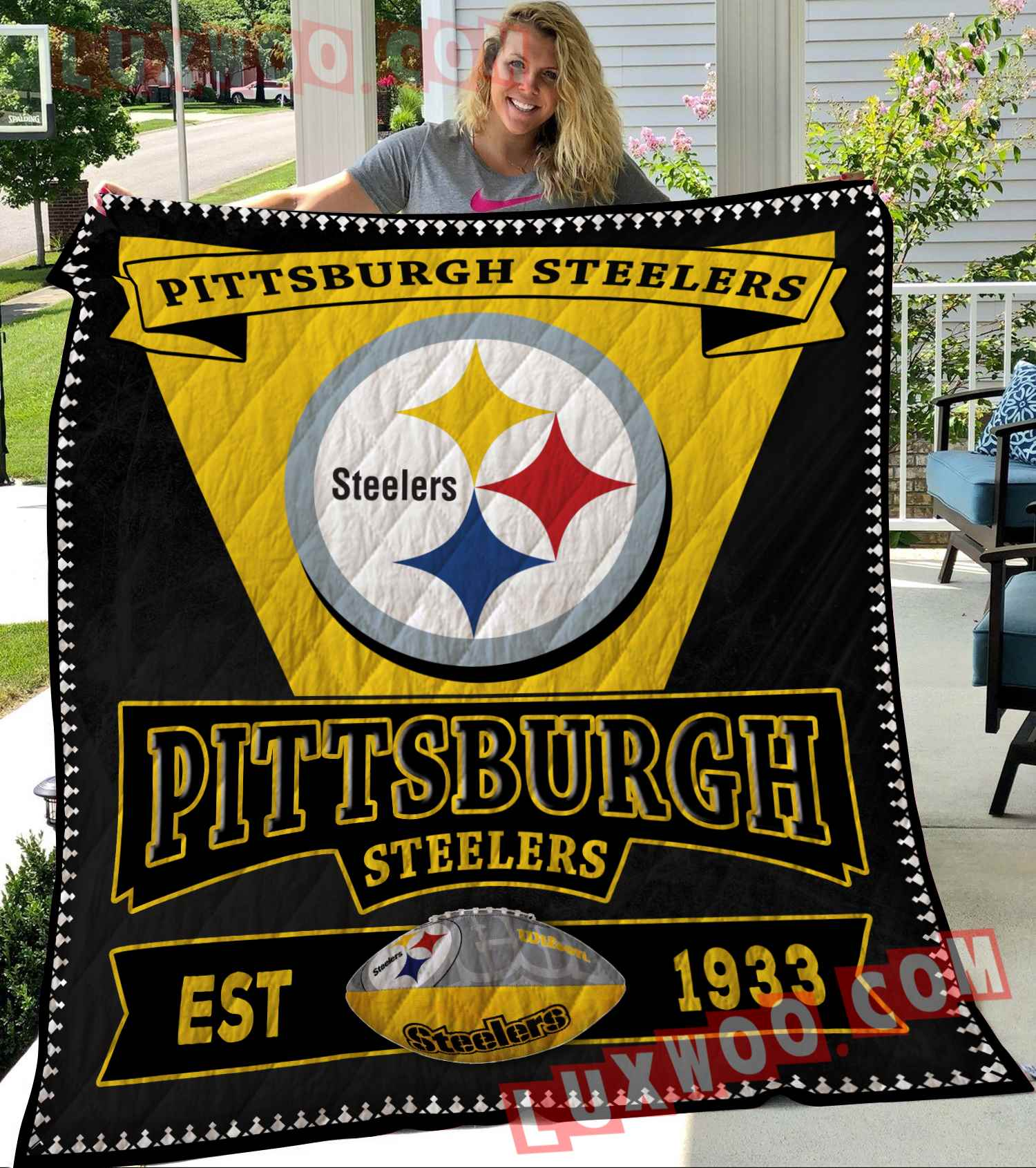 Pittsburgh Steelers Nfl 3d Quilt Blanket V4